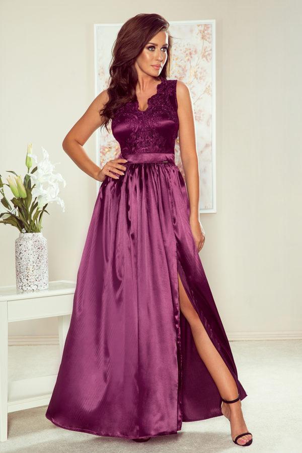 Dámske šaty 256-2 - šaty na stužkovú - saty na stuzkovu - spoločenské šaty na stužkovú - šaty na stužkovú s dlhým rukávom - plesové šaty na stužkovú - princeznovské šaty na stužkovú - tylové šaty na stužkovú - dlhé šaty na stužkovú - maxi šaty na stužkovú