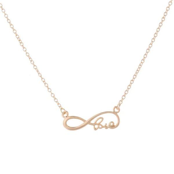 najlacnejšia bižutéria - náhrdelník - lacná bižutéria - bižutéria náušnice - bižutéria náhrdelníky - lacna bizuteria - swarovski sety - swarovsi náhrdelník - najlacnejšia bižutéria - swarovski set - doplnky na stužkovú - šperky sety - šperky z chirurgickej ocele - bižutéria sety - bižutéria náhrdelníky - darček na stužkovú - šperky na stužkovú - set náhrdelník náušnice - Náhrdelník Infinite Love-Zlatá KP4804