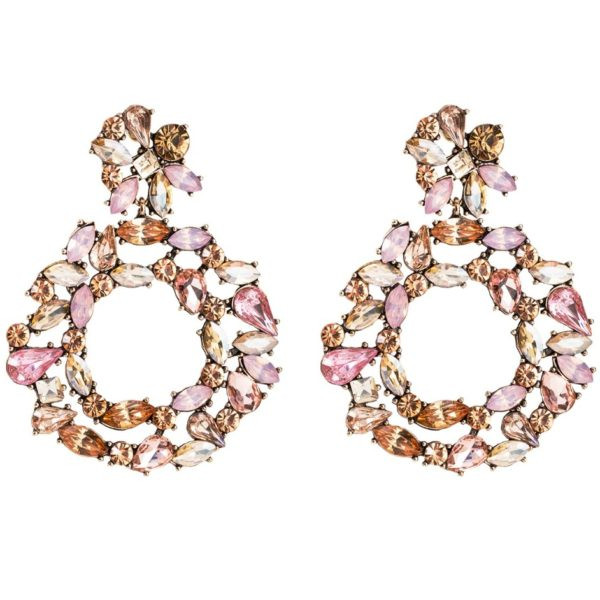 lacna bizuteria - najlacnejšia bižutéria - doplnky na stužkovú - šperky sety - šperky z chirurgickej ocele - darček na stužkovú - šperky na stužkovú - Náušnice Flint-Ružová KP5249