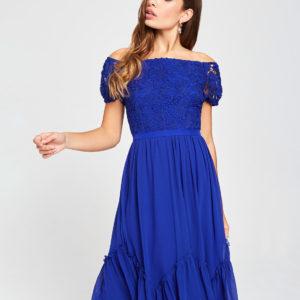 Šaty na stužkovú kráľovská modrá