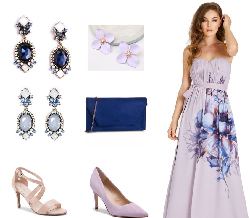 doplnky k ružovým šatám na stužkovú, ružové šaty na stužkovú, fialové šaty na stužkovú, doplnky, šperky, bižutéria