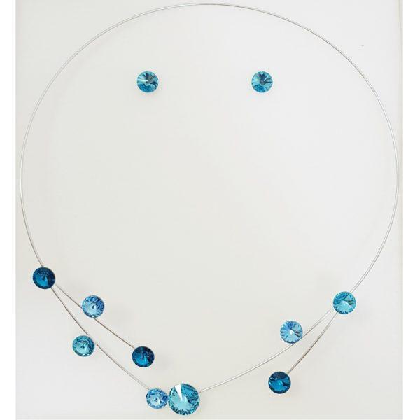 najlacnejšia bižutéria - náhrdelník - lacná bižutéria - bižutéria náušnice - bižutéria náhrdelníky - lacna bizuteria - swarovski sety - swarovsi náhrdelník - najlacnejšia bižutéria - swarovski set - doplnky na stužkovú - šperky sety - šperky z chirurgickej ocele - bižutéria sety - bižutéria náhrdelníky - darček na stužkovú - šperky na stužkovú - set náhrdelník náušnice - Set Anette SWAROVSKI-Tyrkysová KP4733