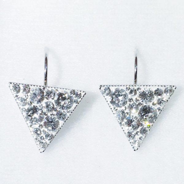 lacna bizuteria - najlacnejšia bižutéria - doplnky na stužkovú - šperky sety - šperky z chirurgickej ocele - darček na stužkovú - šperky na stužkovú - Náušnice Triangle SWAROVSKI-Str./Kryštálová KP5352